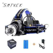 Promotion Quality Headlight 5000 Lumens Cree XML T6 LED Headlamp Rechargeable Fishing Camp Head Light For 2*18650
