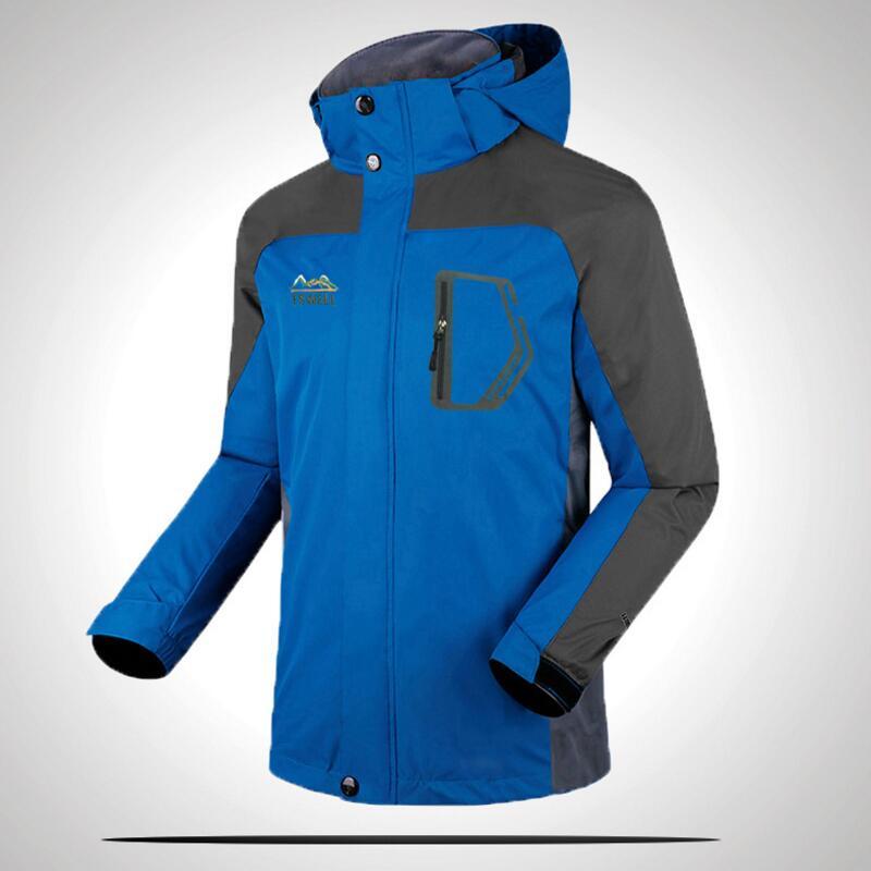 2018 autumn and winter jacket men waterproof Outdoor sports Jacket men's mountaineering wear Windproof breathable size L-5XL wind tour men s 3 in 1 outdoor sport autumn and winter ski wear jacket deep blue l