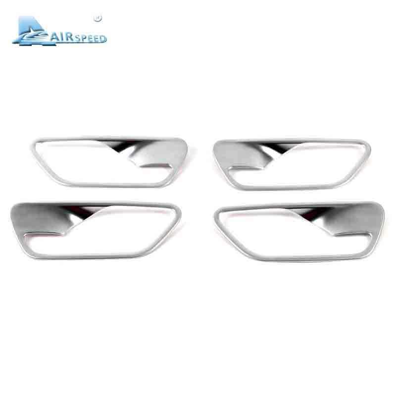 Airspeed 4 ชิ้น/เซ็ตสแตนเลสประตูด้านในกรอบจับฝาครอบ trim สำหรับ BMW f30 3 series 320 316i รถ - จัดแต่งทรงผม