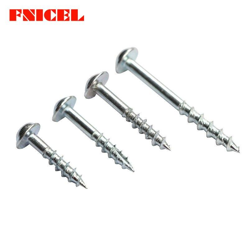 st4-25 Tornillos autorroscantes de alta resistencia de 100PCs para las herramientas de la carpinter/ía de la plantilla del agujero de bolsillo