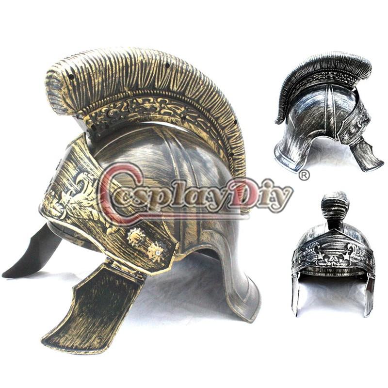 Cosplaydiy új érkezés lovag sisak jelmez ősi római halloween jelmez sapka Ingyenes szállítás D0603