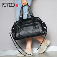 AETOO Trend first layer leather men and women leather travel bag