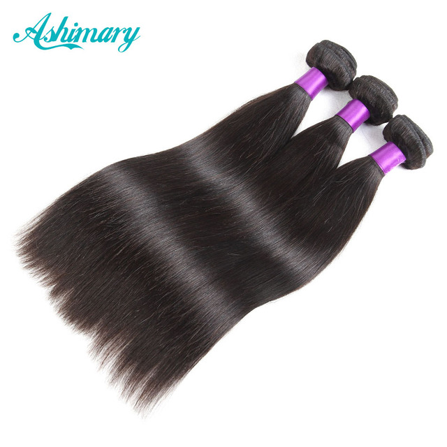 "Ashimary Hair Products Malaysian Straight Remy Hair 1B Human Hair Bundles 1Piece 8""-28""Inch Malaysian Hair Weaving Free Shipping"