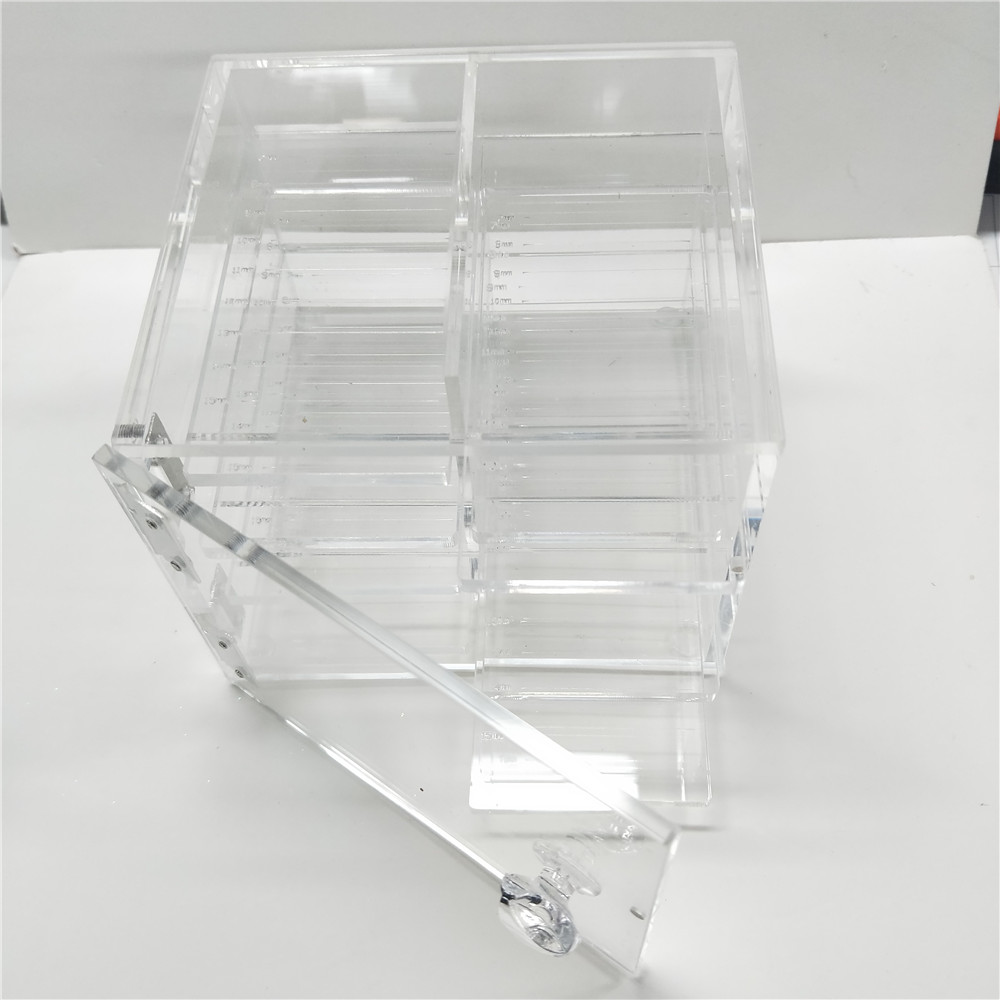 Lovely Clear Eyelash Holder case with size tray Makeup case for lash acrylic Box False Artificial crystal Eyelashes case redlai colors crystal clear laptop case