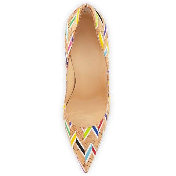 Elegante Color Zapatos Puntiagudo Impresión Stilettos Bombas As Llegada Tacones Cuero Gladiadores Mujeres Mezclado En Altos Nueva Deslizamiento Show Diseñadores De Dedo z0Aw6qnY