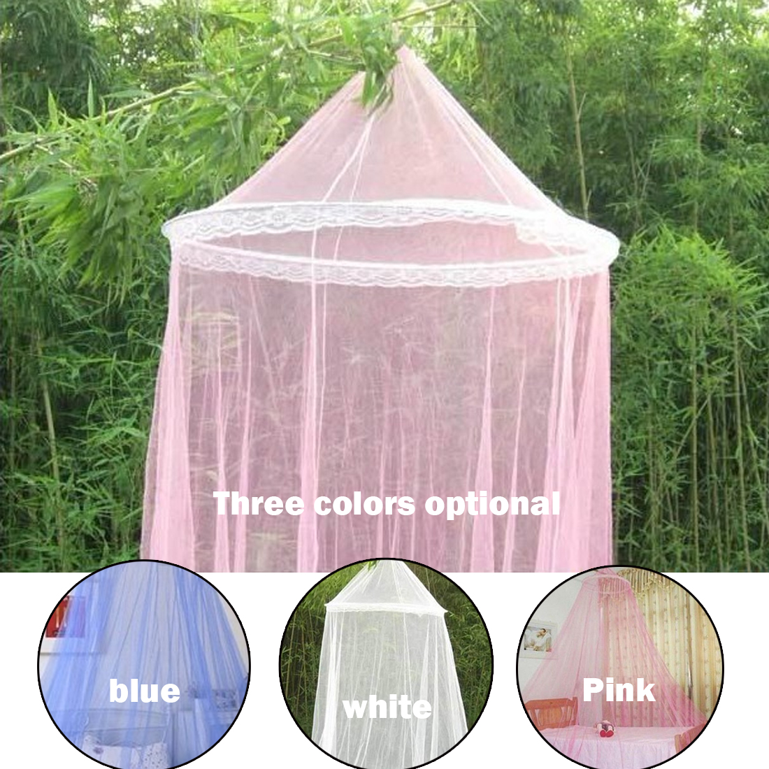 Classical Palace Mosquito Nets Direct Moustiquaire Dome Lace Hanging Mosquito Nets 3Colors