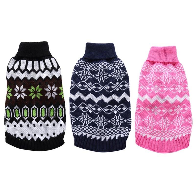 Pet Dog Sweater 2017 Winter Christmas Nordic Fair Isle Or Round ...