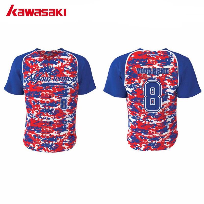 Kawasaki Camo Youth Baseball Jersey Top Mens Custom