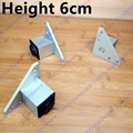 1 Pair Height 6cm Reinforcement bearing be customized highly adjustable square ark cabinet feet aluminum alloy Furniture Caster
