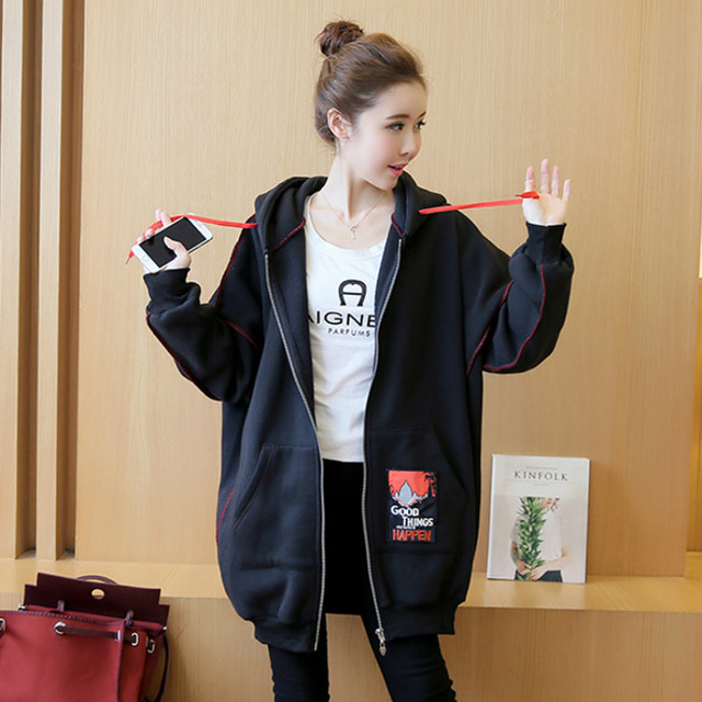 Autumn Winter Warm Clothes for Pregnant Women Loose Maternity Coat Coats for Pregnant Women Long Sleeve Maternity Jacket Jackets