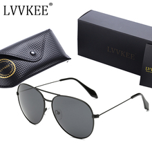 LVVKEE 2018 New Fashion Classic VB Brand Designer men Polarized Sunglasses Women Pilot Sun Glasses UV400 Oculos de sol Feminino