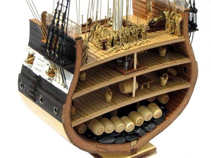 NIDALE نموذج الكلاسيكية نموذج قارب إبحار أطقم USS. الدستور (القسم) 1794 السفينة الخشبية القديمة الحديدية SC موديل-في مجموعات البناء النموذجي من الألعاب والهوايات على  مجموعة 1