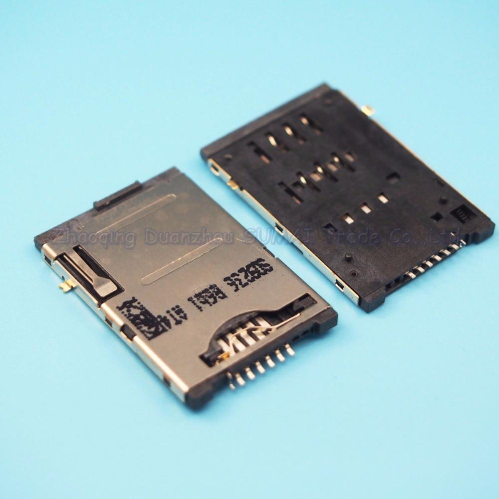 10pcs/lot Self-push 7P SIM card holder 6P + 1P with switch SIM card slot Self-propelled mobile phone holder