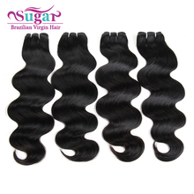 Sugar Virgin Hair Brazilian Body Wave 4Bundle Deal 7A Brazilian Virgin Hair Body Wave Hair 1B