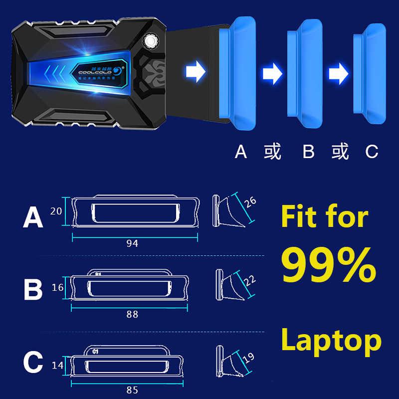 Портативный кулер для ноутбука USB внешний вытяжной вентилятор охлаждения для ноутбука Регулируемая скорость для ноутбука 15 15,6 17 дюймов