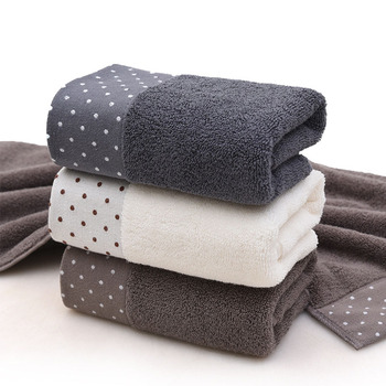 1 Uds. Toalla de baño de algodón suave tejido rectangular, toallas de baño de textil para el hogar, paño de lavado gris/marrón/blanco de alta calidad para la cara