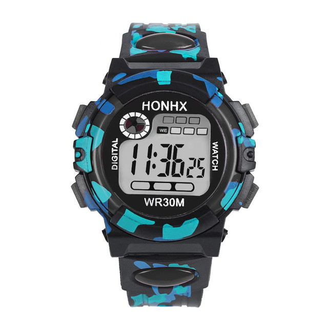 HONHX Luxury Brand watch Kids Child Multifunction Waterproof Sports Electronic W