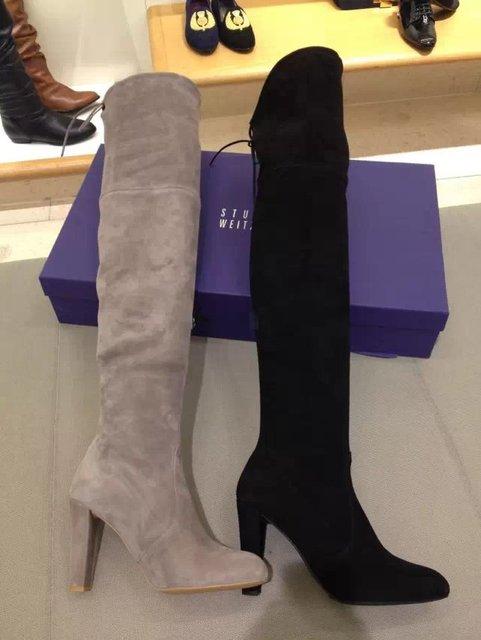 48bd914db5 2017 Lace Up Coxa Botas Altas Para As Mulheres Plus Size Botas de  Estiramento tecido Bota
