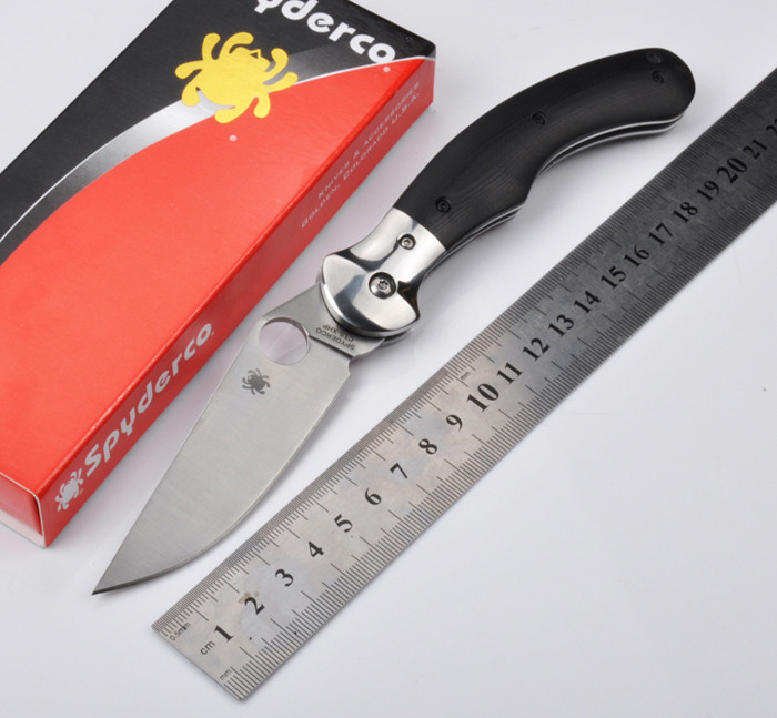 Free shipping Pocket C173 58HRC 5Cr13MoV blade G10 handle folding font b knife b font camping