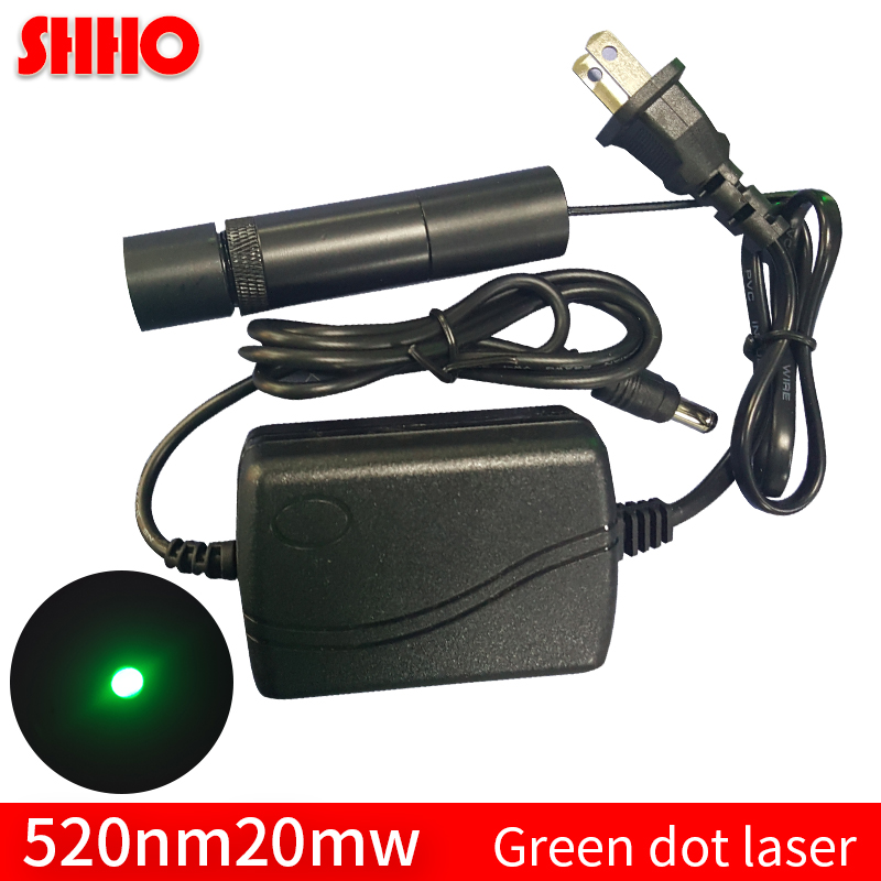 Long distance launch 520nm 20mw green dot laser module add power supply green point sight laser locator super bright small spot поло trussardi jeans поло