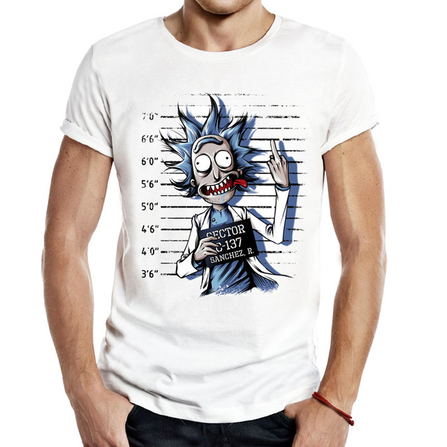 New Rick And Morty T Shirts Unisex Men Funny Tv Show Cartoons Anime