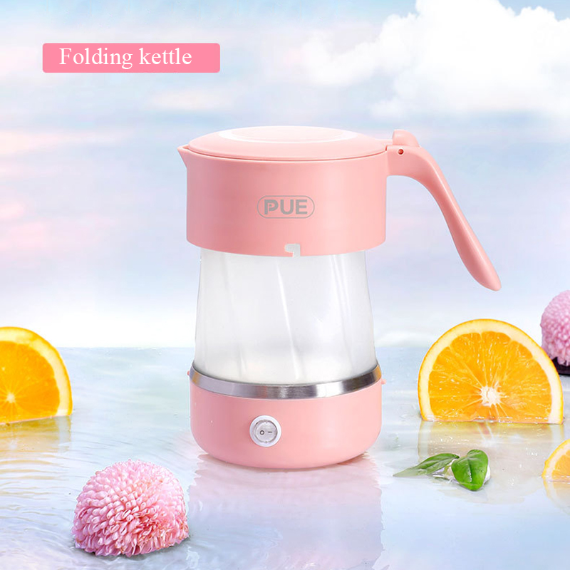 Electric Water Kettle Silicone Foldable Travel Kettle Chaleira Portable Collapsible Water Boiler Home Electrical Appliances