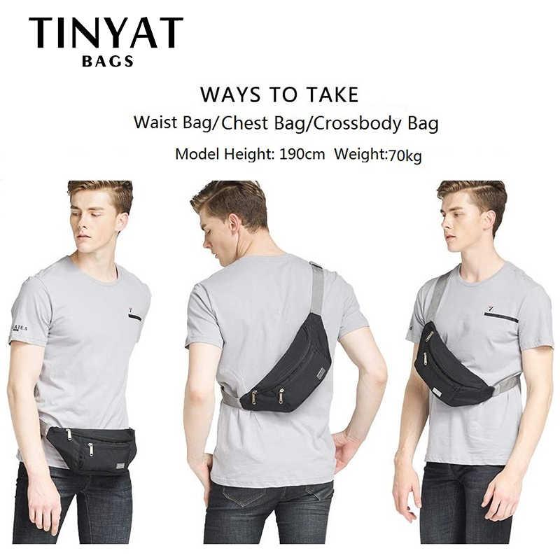 TINYAT 男性ウエストバッグパック旅行電話ベルトバッグ男性女性カジュアルショルダーバッグクロスボディキャンバスバッグベルトユニセックスヒップバッグ
