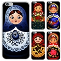 Ethnic Style Floral GirlsTumbler Clear Soft TPU Silicone Case for iPhone 6 6s Plus Vitage Roly-poly Cell Phone Back Cover