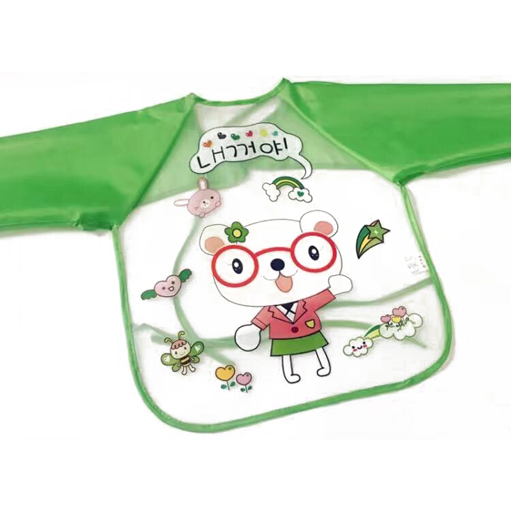 Cute Cartoon Baby Bibs Long Sleeve Art Apron Animal Smock Children Bib Burp Clothes Soft ...