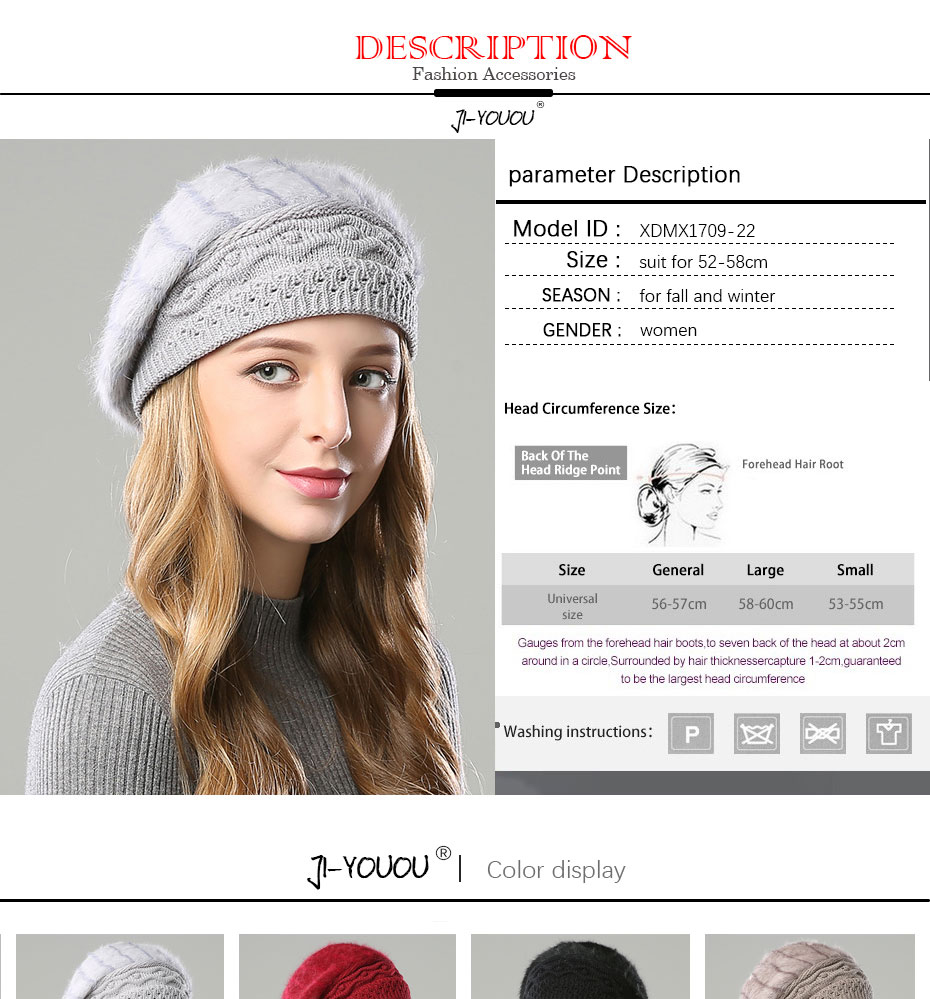 29ec38e23 2018 winter Warm hat girls mask knitted hats for women beanie hats Double  layer Rabbit hair material cap