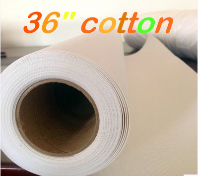 Nice 36in X 30m 350g Gallery Glossy Printable Art Inkjet Pure Cotton Canvas For Eco Solvent Ink Printer