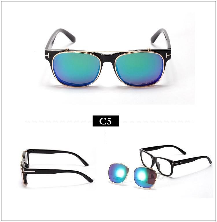 132869ff501 Cool Clip On Sunglasses Tom Men 2015 New Fashion Vintage Mirror Glasses  Ford Women Brand Designer Steampunk Gafas de sol Points
