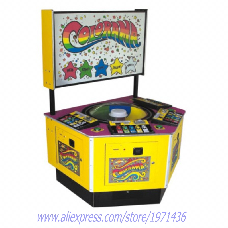 Colorama 4 players Coin Operated Roulette Amusement Arcade Redemption Tickets Game Machine