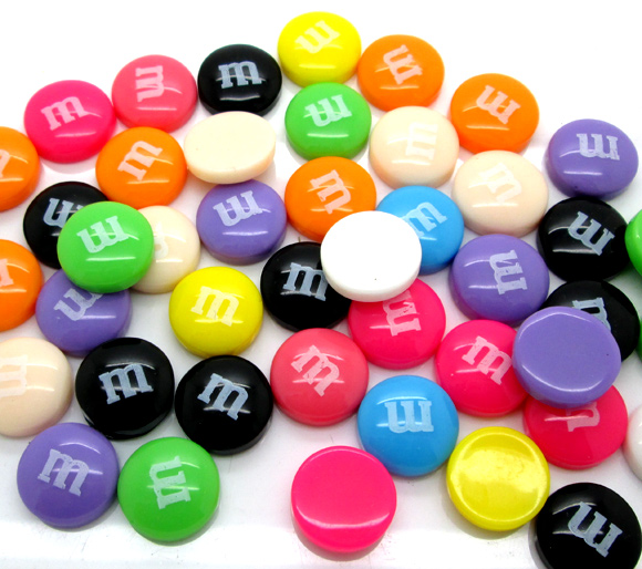 50Pcs Mixed Resin Letter M Beads Decoration Crafts Flatback Cabochon Scrapbooking Fit Phone Embellishments Diy Accessories