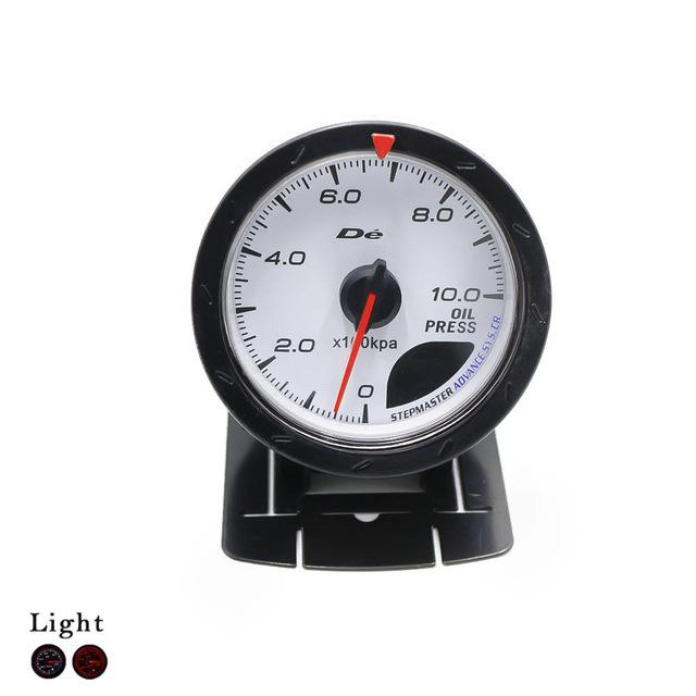 2.5 ''60mm D * fi CR Medidor de Pressão do Óleo Com Sensor de Rosto Branco Imprensa de Óleo Medidor de carro com Red & White Lighting/Auto Gauge/Meter Car