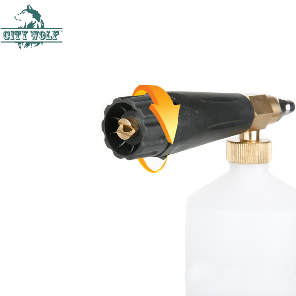 Image 2 - snow foam lance City wolf high pressure washer foam gun  with 1/4 quick connector disinfection car cleaning accessory-in Car Washer from Automobiles & Motorcycles