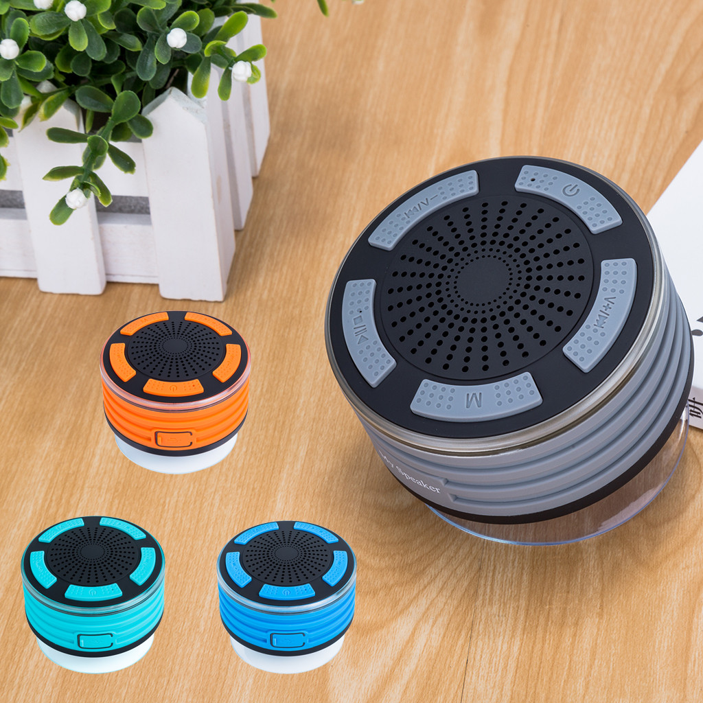 Portable Wireless Bluetooth Speakers with FM Radio Shower Speaker IPX7 Suction Cup music speaker IP67 certification Waterproof 7-in Outdoor Speakers from Consumer Electronics