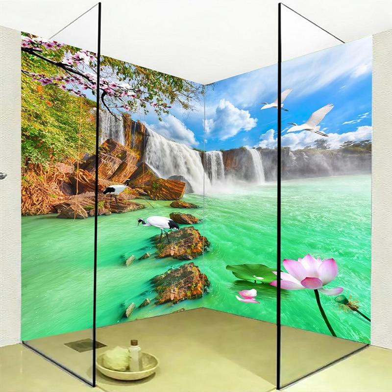 HD Waterfalls Landscape Mural Wallpaper PVC Self Adhesive ...