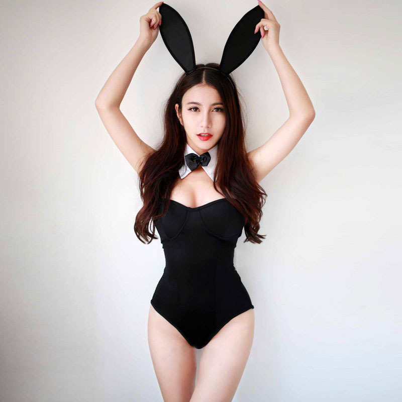 Halloween Costume Uniforms Lingerie Sex-Toy Catwomen Bunny Girl Underwear Temptation-Suit title=
