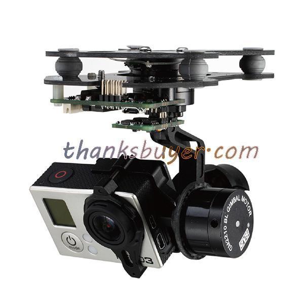 Instock dys 3 eixos inteligente gopro bl gimbal brushless camera gimbal w/motor & controlador gimbal para gopro fpv fotografia aérea