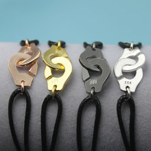 Франция популярный наручный браслет из стерлингового серебра 925 пробы для женщин с черной веревкой 925 серебряный браслет Menottes только 925 штамп