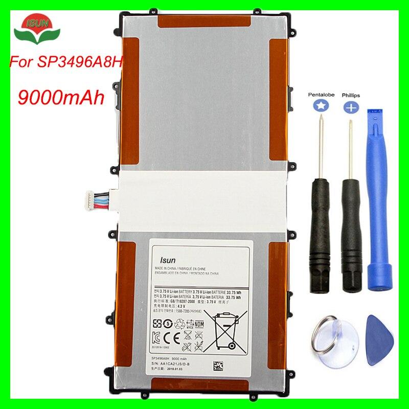 Original Qualität SP3496A8H Batterie Für Samsung Google Nexus 10 GT-P8110 HA32ARB Tablet Batterie 9000mA mit repair tool