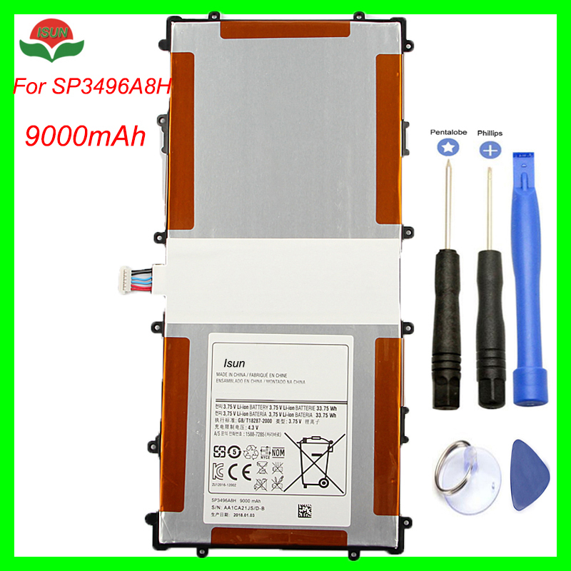 Original Quality SP3496A8H Battery For Samsung Google Nexus 10 GT P8110 HA32ARB Tablet Battery 9000mA with