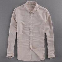 Breathable Linen Shirts Men Brand Fashion Shirt Mens Cotton Casual Shirt Men Summer Long Sleeve Shirts