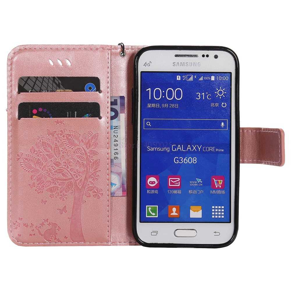 Coque For Samsung Galaxy Core Prime G361 Flip Wallet Leather Phone Cover Case G361F G361H/DS SM-G361F SM-G361H SM-G361H/DS Capa