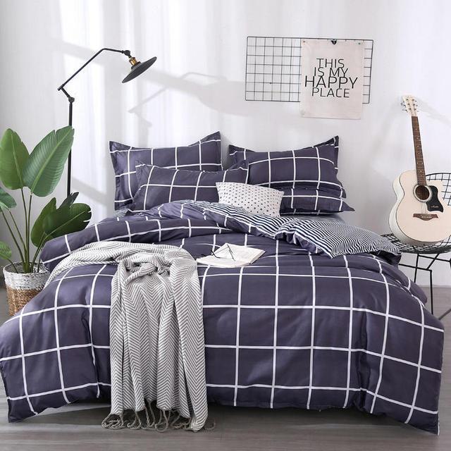 11 Color 3/4pcs Bedding Set Geometric Pattern Duvet Cover&Flat Bed Sheet&Pillowcase Soft Comfortable Home Textile Wholesale