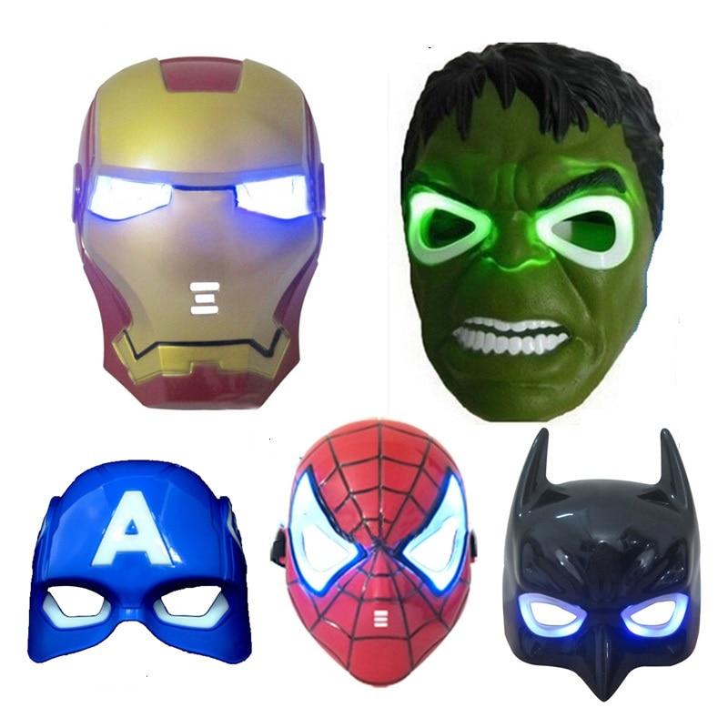 Media Quente Cosplay Led Mascara Do Homem Aranha Batman Hulk Homem
