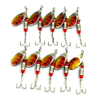 10pcs Lot Metal Sequin Spinner Spoon Isca Pesca Fishing Lures Artificial Wobble Bass Japan Hooks Fishing