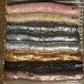 2019 mode Stoff Gold Silber metall mesh stoff metallic pailletten stoffe für home dekoration vorhänge kleid tasche DIY nähen-in Stoff aus Heim und Garten bei