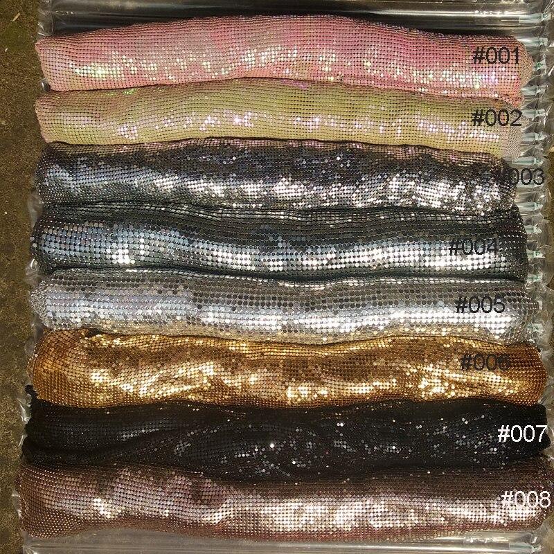 2019 mode tissu or argent métal maille tissu métallique sequin tissus pour la maison décoration rideaux robe sac bricolage couture